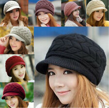 Womens Lady Hat Winter Warm Knitted Crochet Slouch Baggy Beanie Hat Cap