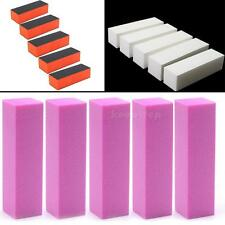 5 pcs Nail Art Buffer File Block Pedicure Manicure Buffing Sanding Polish K0TG