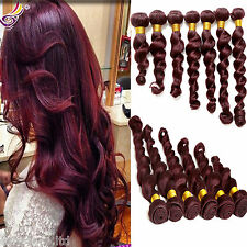 "2015 Style 100g/PC Loose Wave Color 99J#  Brazilian Human Hair 10""30"" Extensions"
