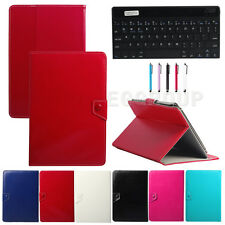 "9"" Ultra Thin Bluetooth Keyboard + PU Leather Case For 9.7 10 10.1 inch Tablet"