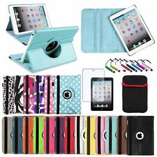 For Apple iPad Mini 1 2 3 Rotating Magnetic PU Leather Case Smart Cover Stand