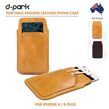 dpark 0.1mm Slim Genuine Leather Phone Case Pouch Pocket For iPhone 6 4.7/6 Plus