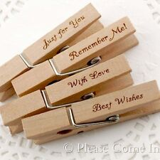 20 Engraved Wooden Clothespin/Peg Birthday Christmas Baby Shower Wedding