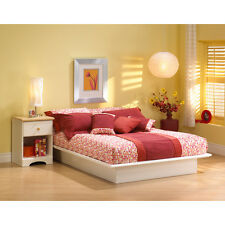 Platform Bed Full Queen King Size Sizes White Color Bedroom Frame South Shore