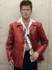 Screen Accurate Leather Jacket Coat, FIGHT CLUB, Tyler Durden, Brad Pitt, Calf