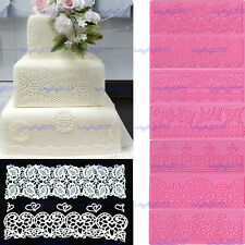 Lace silicone mat mould fondant cake sugarcraft decoration tool bakeware molds