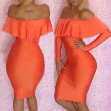 Women Sexy Clubwear Evening Bodycon Cocktail Party Bandage Dress Off Shoulder