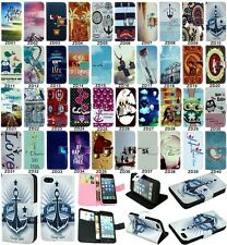 Popular flip wallet pu leather stand case cover for Samsung Galaxy Grand Series
