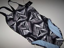 NWT NIKE SWIMSUIT CHLORINE RESISTANT BLACK WHITE GRAY WOMENS 4 /30, 10 / 36 -$78