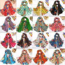 Hot Girls/Ladies Long Cotton Voile Floral Shawl Multi-Colors Scarf Wrap Stole