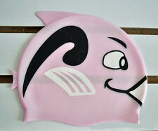 Valuable Nice Lovely Cartoon Fish Style Pure Silicone Swimming Cap Swim Hat BBCA