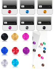 10 color choose Aluminium Metal Round Home Case button Stickers For Apple iphone