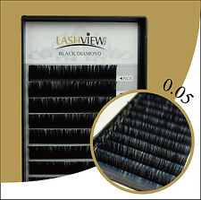 Silk Eyelash Extensions Especially for 3D Eyelash Extensions 0.05 C Curl 8-12mm