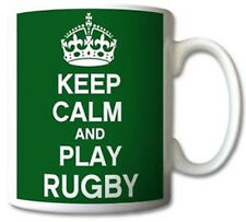 Keep Calm And Play Rugby Mug Cup Gift Retro