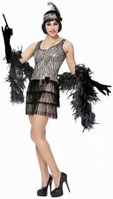 Silver Broadway Flapper Adult Costume
