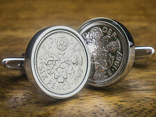 Lucky Sixpence 6d Coins Cufflinks - Select the Birthday Year 1928 - 1967