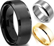 Size 7-15 8MM Stainless Steel Ring Band Brushed Anniversary Wedding Engagement