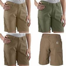 New $34 Carhartt Women's Canvas Carpenter Shorts - 100% Cotton, Sizes 6/8/10