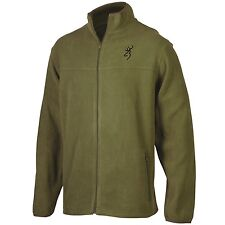 BROWNING BUCKMARK MEN'S FLEECE JACKET - MOSS GREEN COAT