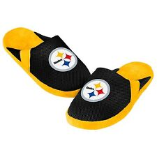 Steelers Jersey Mesh SLIDE SLIPPERS New - FREE SHIPPING - Pittsburgh Steelers