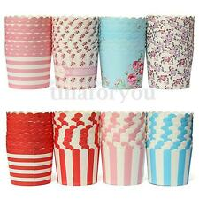 50x Heat-resistant Cupcake liners Cake Mould Standing Paper Baking Cups 2.8""