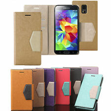 Luby Leather Flip Diary Case Cover Pouch Book Folio For SAMSUNG LG APPLE