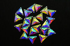 Acrylic beads Triangle AB Faceted Sew On Flat Back Jewels