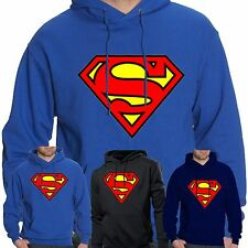 Mens Superman Hoodie Hooded Sweatshirt Pullover Sweat Hoody Jumper Sports Casual