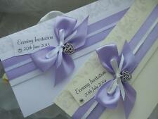 """Personalised Luxury Wedding/Evening Invitations """"LOVE STORY"""" - NEW COLOURS!"""