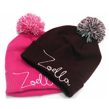 Zoella Beanie YouTube Vlogger Viral Fashion Just Say Yes Embroided Bobble Hat