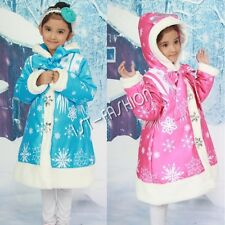 NEW Winter Jacket Girls Long Sleeve Coat Warm Kid Hooded Outerwear Parka Clothes