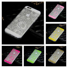 "Housse Coque Etui Silicone TPU Souple Case Vintage Pr Apple iPhone 5 5S 6 (4.7"")"