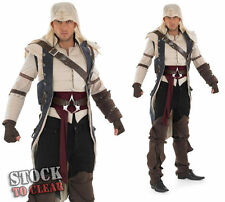 ADULT ASSASSINS CREED 3 COLONIAL ASSASSIN COSPLAY FANCY DRESS COSTUME