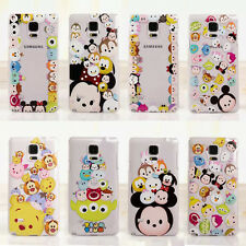 New Cute Cartoon Clear TPU Soft Case Cover for Samsung Galaxy Note3 Note4 Note5