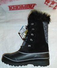 Khombu Nordic 2 Waterproof Snow Boots - Black New!