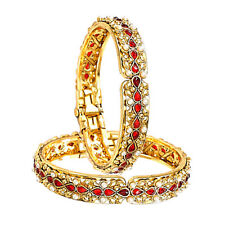 Hot Indian Bollywood Fashion CZ Bangle Gold Plated Women -Perfect Valentine Gift