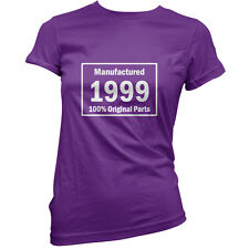 Manufactured 1999 Original Parts - Womens 16th Birthday Gift T-Shirt -11 Colours