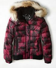 NEW American Eagle AEO Womens Down Hooded Puffer Jacket Burgundy - S, M, L, XL