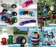 Tinsel Wool Patterns from King Cole, Owl, Hedgehog, Teddy Bears
