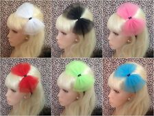♥ BIG NET TULLE TUTU BOW SATIN ALICE HAIR BAND HEADBAND 80s MADONNA PARTY FANCY