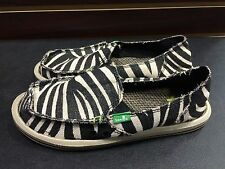 Sanuk Womens On The Prowl Sidewalk Surfer in Zebra Various Sizes New w/Tags