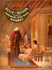 "Advertising Poster : ""Belle of Nelson Sour Mash Whiskey"" (1878) — Fine Art Print"