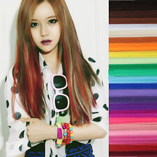 Rock Cool Colorful Long Straight Clip Synthetic Fiber Hair Extensions Hair Piece