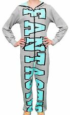 """Girls Hooded Onesie Cotton Grey with Turquoise """"FANTASTIC"""" Graphic. Age 10"""