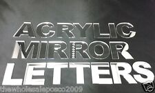 MIRROR FLAT CUT LETTERS ACRYLIC ALPHABET IN UPPER CASE 50 100 & 150MM HIGH