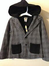 Harajuku Mini Boy's Blazer Jacket Gray & Black NEW w/ Tags