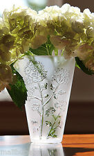 NIB Lalique Ombelles Small Crystal Vase Signed 100% Authentic - Lovely Gift!