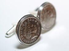 Wedding Anniversary Cufflinks. Genuine polished coin from your Wedding year