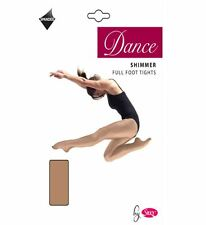 Girls Silky Full Foot Shimmer Dance Tights Ballet Age 5 6 7 8 9 10 11 12 13