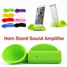Cute Portable Silicone Horn Stand Audio Dock Amplifier Speaker For Mobile Phones